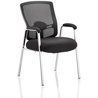 Portland Straight Leg Visitor Chair - Black