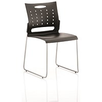 Slide Polypropylene Visitor Chair - Black