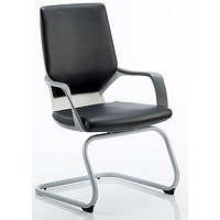 Zenon Leather Visitor Chair - Black