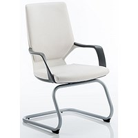 Zenon Leather Visitor Chair - White