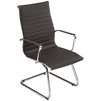 Breeze Executive Leather Visitor Armchair - Black