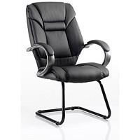 Galloway Leather Visitor Chair - Black