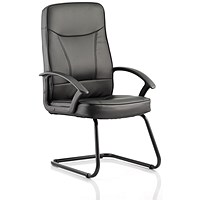 Blitz Leather Cantilever Chair - Black