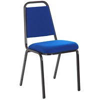 Banqueting Stacking Visitor Chair, Black Frame, Blue
