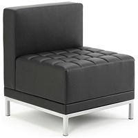 Infinity Leather Modular Chair - Black
