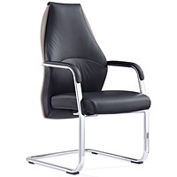 Mien Cantilever Chair - Black and Mink
