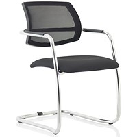 Swift Mesh Cantilever Visitor Chair - Black