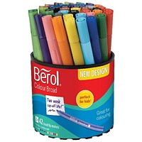Berol Colourbroad Pen Assorted Water Based Ink (Pack of 42) CBT