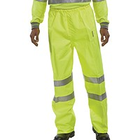 Hi-Viz Trousers EN ISO20471 S/Yellow XL
