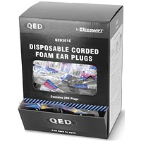 QED Corded Ear Plug (Pack of 200)