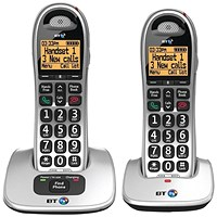 BT BT4000 Twin Big Button DECT Cordless Phone Silver/Black 069265