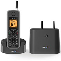 BT Elements 1K DECT Cordless Phone Black/Grey 079482