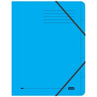 Elba Boston Elasticated Files, 5-Part, Foolscap, Blue, Pack of 5