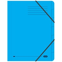 Elba Boston Elasticated Files, 7-Part, Foolscap, Blue, Pack of 5