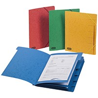 Elba Strongline 9 Part Manilla Foolscap Red (Pack of 5)