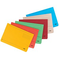 Elba Strongline Document Wallet Bright Manilla Foolscap Assorted (Pack of 10) 400099327