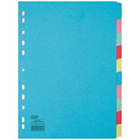 Elba Subject Dividers, 10-Part, A4, Assorted