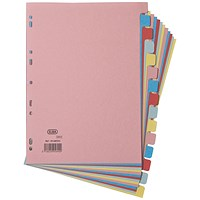 Elba Subject Dividers, 15-Part, A4, Assorted
