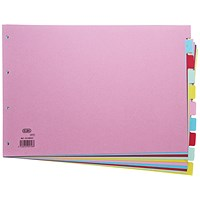 Elba Subject Dividers, 10-Part, A3, Assorted