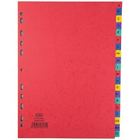 Elba Heavyweight Dividers, A-Z, A4, Assorted
