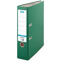 Elba A4 Lever Arch Files, 70mm Spine, Green, Pack of 10