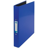 Elba Ring Binder, A4+, 2 O-Ring, Gloss Finish, 25mm Capacity, Blue