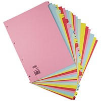 Elba A-Z Card Dividers A4 Assorted