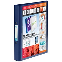 Elba Vision 2 Ring Binder Plastic Coated Board A4 Blue