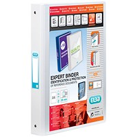 Elba Vision 2 Ring Binder Plastic Coated Board A4 White