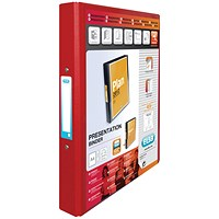 Elba Vision 2 Ring Binder Plastic Coated Board A4 Red