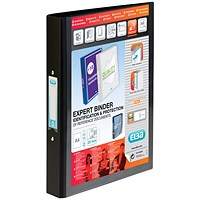 Elba Vision 2 Ring Binder Plastic Coated Board A4 Black