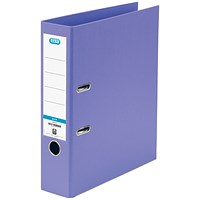 Elba 70mm Lever Arch File Plastic A4 Purple