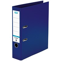 Elba 70mm Lever Arch File Plastic A4 Blue 1450-01