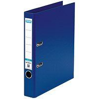 Elba 50mm Lever Arch File Plastic A4 Blue 1451-01