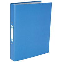 Elba A4 Blue 25mm Paper Over Board Ring Binder (Pack of 10)