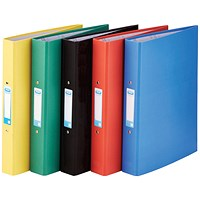 Elba Ring Binder, A4, 2 O-Ring, 25mm Capacity, Assorted, Pack of 10