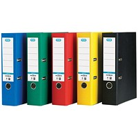 Elba A4 Lever Arch Files, 70mm Spine, Assorted, Pack of 10