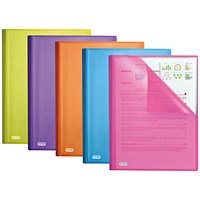 Elba Display Book 20 Pocket A4 Assorted (Pack of 10) 400101909