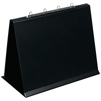 Bantex 4O Ring Binder PVC Oblong A3 Black