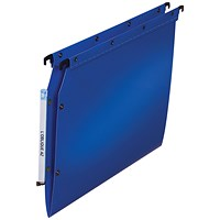 Elba Ultimate Lateral File Vbtm PP A4 Blue (Pack of 25)
