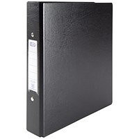 Elba Ring Binder, A5, 2 O-Ring, 25mm Capacity, Black, Pack of 10