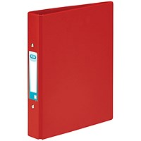 Elba Ring Binder, A5, 2 O-Ring, 25mm Capacity, Red, Pack of 10
