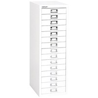 Bisley SoHo 15 Drawer Cabinet - White