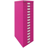 Bisley 15 Drawer Cabinet Fuschia BY78743