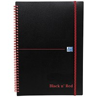 Black n' Red Wirebound Polypropylene Notebook, A5, Ruled, 140 Pages, Pack of 5