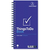 Challenge Wirebound Things to do Today Planning Book, Perforated, 115 Pages, 280x141mm