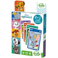 Shuffle Disney Animals 4-in-1 Card Game (Pack of 12)