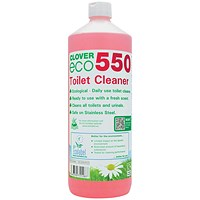 Clover ECO 550 Toilet Cleaner 1 Litre (Pack of 12)