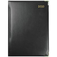 Collins Classic 2020 Manager Appointment Diary, Day Per Page, Black