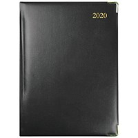 Collins Classic 2020 Manager Appointment Diary, Week to View, Black